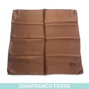 Gianfranco Ferré brown silk scarf